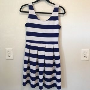 😊Soprano Blue and White Striped Dress